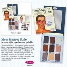 The Balm Meet Matt e NUDE Matte Eyeshadow Palette Full Size NEW