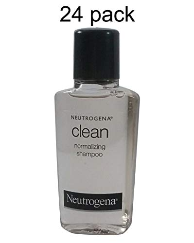 Neutrogena Clean Normalizing Shampoo 0.9 oz Lot of 24 - Total of 21.6 oz