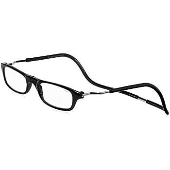 e39e15b56cac CliC XXL Adjustable Front Magnetic Connect Expandable Reading Glasses  Black  +1.25