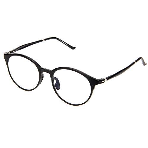 Cyxus Retro Computer Glasses Blue Light Blocking (Ultem Lightweight Flexible) Reduce Eyestrain Heradache (Matte Black)