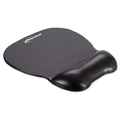 Innovera Gel Mouse Pad with Wrist Rest, Nonskid Base, 8-1/4 x 9-5/8 Inches, Black (51450) by SHOP-ZL