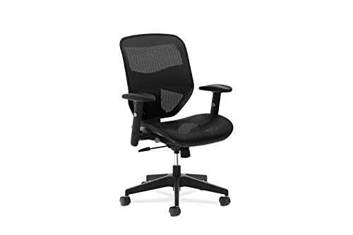 HON Prominent High Back Task Chair - Mesh Back and Seat Office Chair for Computer Desk, Black (HVL534)