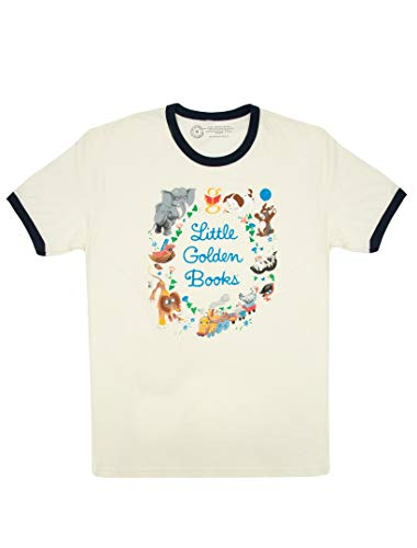 Book Mens T-shirt - Out of Print Little Golden Books Unisex Ringer T-Shirt X-Large