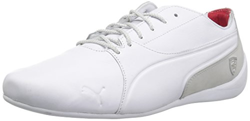 (PUMA Men's Ferrari Drift Cat Sneaker, White-Gray Violet, 12 M US)