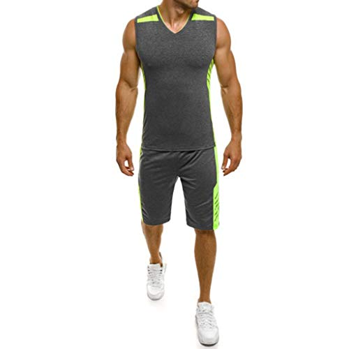(POQOQ Men's Classic Basic Athletic Jersey Tank Top Casual T Shirts S Black)