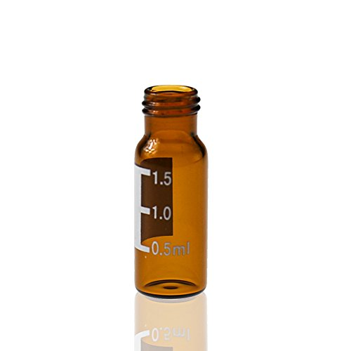 - ALWSCI Autosampler Vial, Amber Sample Vial with Graduation Screw Top 9-425 Thread Finish, Pack of 100