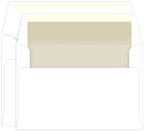 Pearl Lined Inner Outer Envelopes, A9, A10 Radiant White, 25 Pack