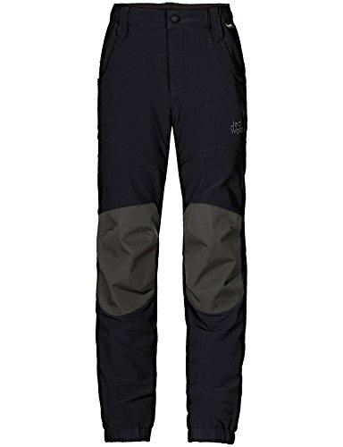 Jack Wolfskin Kinder Rascal Winter Pants Kids Softshell-Hose, Black, 140