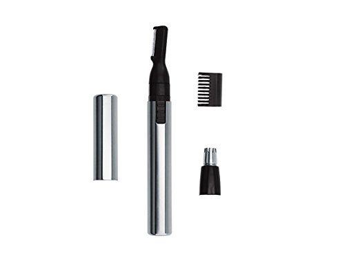Wahl Mens Micro Groomsman Ear/Nose/Eyebrow/Mustache/Beard Trimmer Pen Shaper