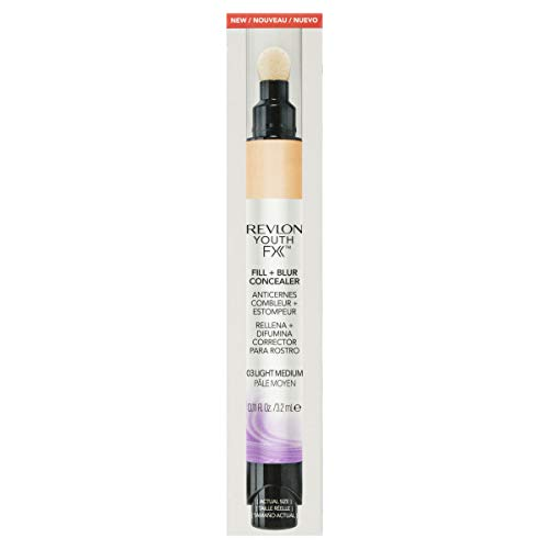 Revlon Youth Fx Fill + Blur Concealer, Light Medium, 0.11 Fluid Ounce