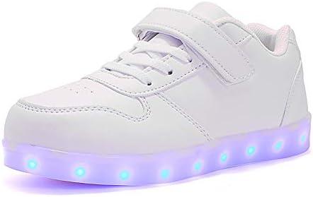 Rojeam Unisex Kinder LED Leuchtet Schuhe Sportschuhe USB Lade Outdoor Leuchtend Leichtathletik Beiläufige Paare Schuhe Sneaker