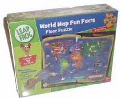 LeapFrog World Map Fun Facts 48pc Floor Puzzle