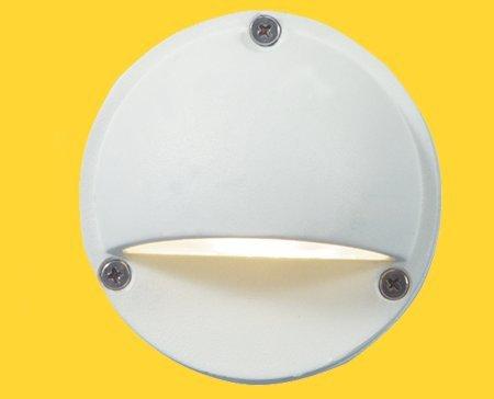 Corona CL-355-WH -Low Voltage/ 12V Step Light Aluminum Eyelid, White