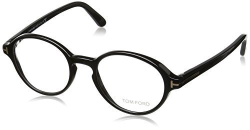 Tom Ford - FT 5409, Rondes, acétate, homme, SHINY BLACK(001), 48/19/145