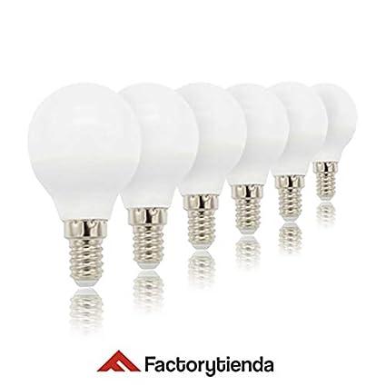 PACK 6 unidades Bombillas LED G45 esferica ,consumo 6W,(equivalente a 60 W