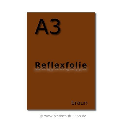 selbstklebend braun reflektierend Orafol Reflexfolie A3