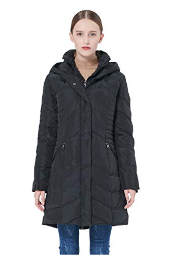 Orolay Women's Thickened Coat Puffer Down Jacket Black ()