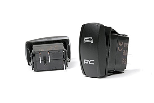 Rough Country - 709SW - Single (1) LED Backlit Rocker Switch for Any Standard Sized Rocker Switch Bezel Light Country Switches