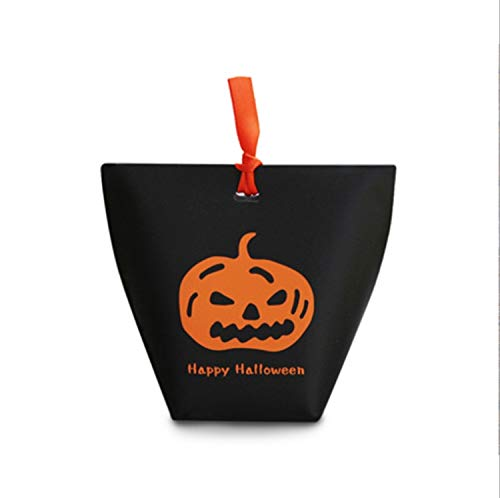 COTZFUS 100Pcs Halloween Easter Party Decoration Pumpkin Ghost Paper Candy Bag Box Family Props Children Gift Box Black 50pcs 12x10x6cm by COTZFUS