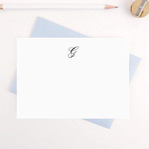 Script Monogram, Personalized Stationery Note Card Set/ Personalized Stationary / Wedding Stationery/ Professional Stationery/ Him/ Her / Script Monogram by Preppy Prodigy