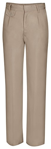 CLASSROOM Big Girls'  Plus-Size Pleat Front Pant, Khaki,12.5