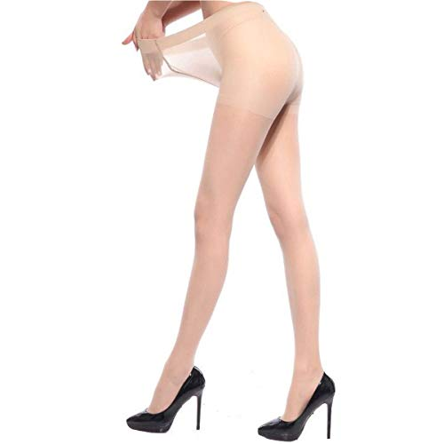 Gentle Women 2 Pack Plus Size Stockings tights Pantyhose Women Tights Sexy Stockings Sheer Nylons (Nude, Large)