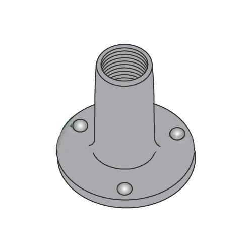10-24 Round Base Weld Nuts 3//4 Base Diameter 9//32 Barrel Height Carton: 1,000 pcs 3 Projections//Steel//Plain