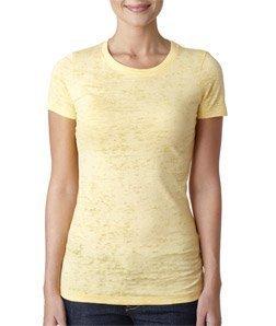 Next Level Baby Rib-Knit Crewneck Burnout Jersey T-Shirt, L, BANANA CREAM