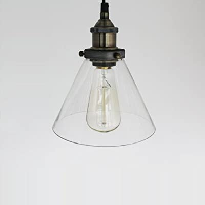 YOBO Lighting Industrial Edison Hanging Lamp Vintage Mini 1-Light Restanrant Kitchen Pendant Lights Fixture