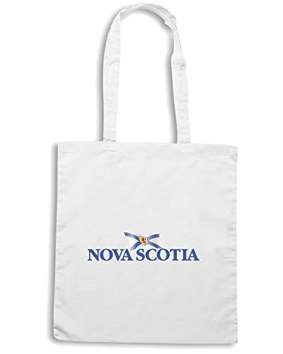 Speed Shirt Borsa Shopper Bianca TM0216 NOVASCOTIA WITHFLAG FLAG