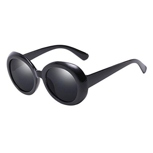 Unisex Estuche Mode Men for Gafas 400 con Zhhlinyuan amp;Gray Sol Calidad Black Round Protection UV de Anteojos Women de Sunglasses Style pq60wd6z