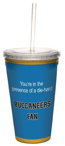 Tree-Free Greetings cc34695 Buccaneers College Basketball Artful Traveler Double-Walled Cool Cup with Reusable Straw, 16-Ounce