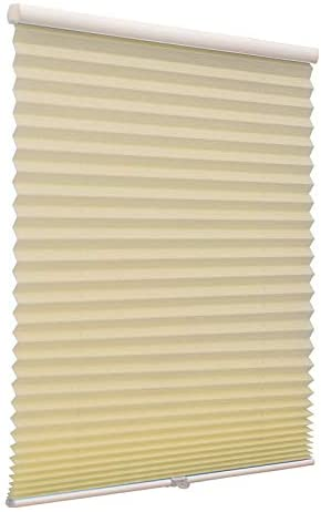 Blackout Cordless Pleated Window Shades Free Stop Custom Made Any Size from 20-78inch Wide UV Protection Dark Grey Window Blinds 46 W x 36 L