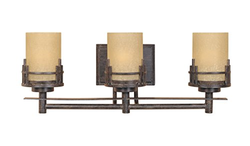 Bar Bronze Mahogany Finish (Designers Fountain 82103-WM Mission Ridge 3 Light Bath Bar)