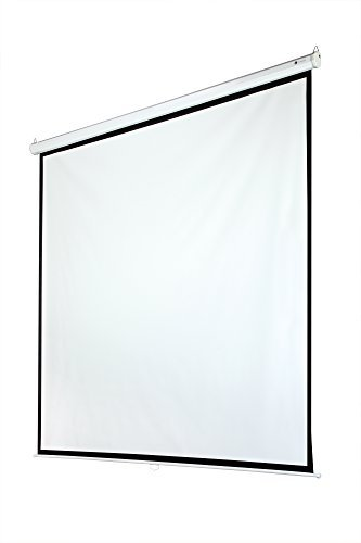 Homegear 118'' 1:1 Manual Pull Down Projector Screen (84'' x 84'') by Homegear