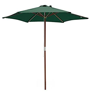 8 pies muebles madera Market paraguas verde