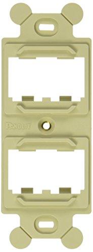 Panduit CF1064EIY 4-Port 4-Module Space Plastic Module Frame, Electric Ivory