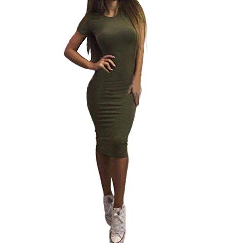 Robe Noir Blanc Mode Filles Courtes S Manches Femme Ville Vert S Vert la Gris Sonnena Gris Robe XL Couleur Jupe sexy Pure Slim wPYOaAq6x