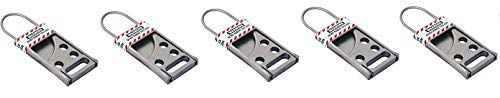 Lockout Safety Supply 7242 Stainless Steel Hasp, Silver (5-(Pack))
