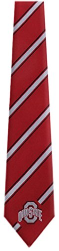 - Ohio State College NCAA Necktie Red Silver Black