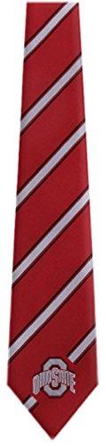 Ohio State College NCAA Necktie Red Silver Black