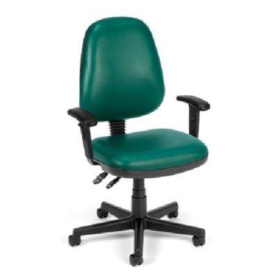 BEF9385679 - Best Teal Vinyl Posture Chair with adjustable
