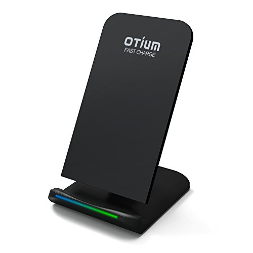 iPhone X Wireless Charger, Otium Fast Wireless Charging Stand Dock with 2 Coils Cell QI Wireless Charger Pad for iPhone 8 Samsung Galaxy S8 Plus S8+ S8 S7 S7 Edge - Returns Policy Uk
