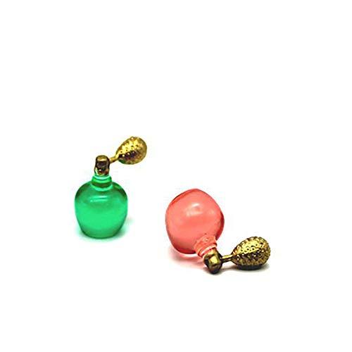 Slendima Perfume Bottle Miniature Ornament Mini Model Pretend Play Toy Table Decor for Dollhouse Accessory Gift