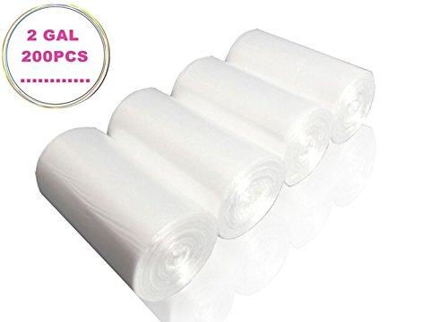 Cy3Lf 2 Gallon Light Duty Wastebasket Trash Bags, Clear, 200 Counts/ 4 Rolls