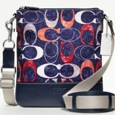 Coach F48009 Legacy Heritage Swingpack Signature Crossbody Multi-color, Bags Central
