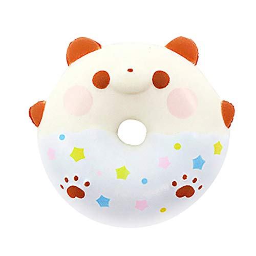 NOMENI Stress Relief Toys Decorative Fun Doughnut Squeeze Slow Rising Cream Scented Cute Collect Toy Party