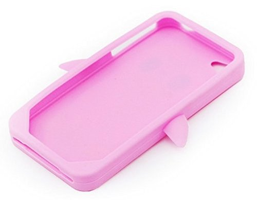 Demarkt Adorable 3D cochon Coque / Housse/ Etui Protection Case en Silicone pour iPhone 4 4S Pink
