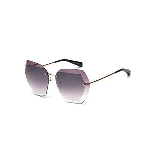 DT Sol de Sol Gafas Mode 3 Rostro Gafas Transparente TD Larga UV 2 Femenino de rUwPr7Iq