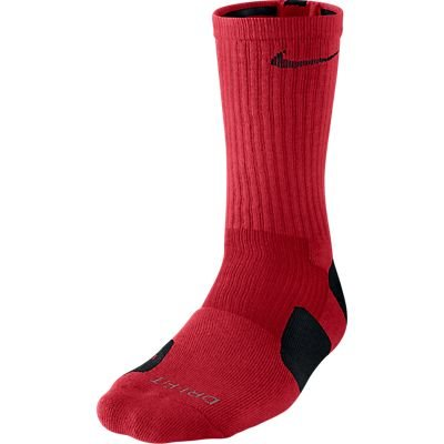 Nike Men's Elite Basketball Crew Socks, Small -  University Red/Black/Black